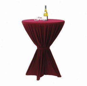 Statafel Met Rok.401 1 Statafel Met Rok Bordeaux Rood